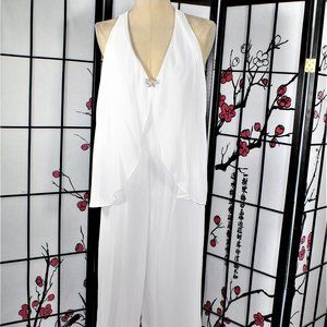 CASUAL COCKTAIL JUMP SUIT WHITE 10